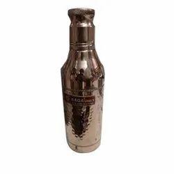 Polished Copper Water Bottle, Screw Cap