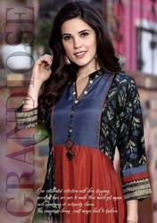 B4U Womaniya-3 Series 3001-3008 Stylish Party Wear Muslin Kurti