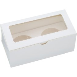 2 Cupcake White Box With Window