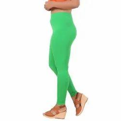 Ladies Green Lycra Churidar Leggings