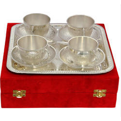 German Silver Serving Cup Tray