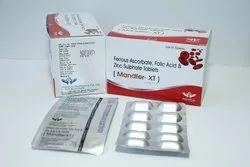 Mandfer-xt Ferrous Ascorbate Tablets, Packaging Type: Alu Alu, Packaging Size: 10*10