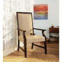 Walnut Wooden Armrest Restaurant Chair