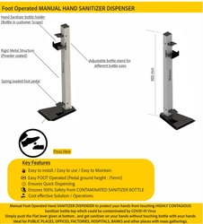 Foot Operator Sanitizer Dispenser