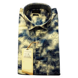 Mens Party Wear Cotton Printed Shirt