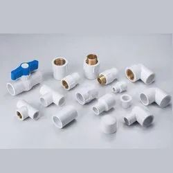 White HDPE UPVC Pipe Fittings, Size: 1/2 inch