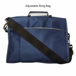 Blue Polyester Mens Adjustable Sling Bag, For College