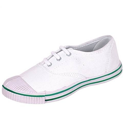 Ortho + Rest White Tennis Canvas Shoes