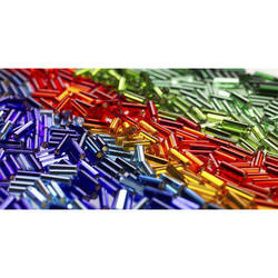 Round Multicolor Bugle Beads, Size: 1.5 Mm - 4 Mm