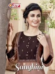 STF Sanghini Silk Kurti With Bottom Catalog Collection at Textile Mall