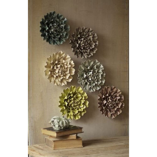 Ceramic Flower Wall Mural