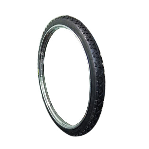 Black Rubber Hindustan Mountain Bicycle Tyre