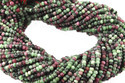 Ruby Zoisite Faceted Beads