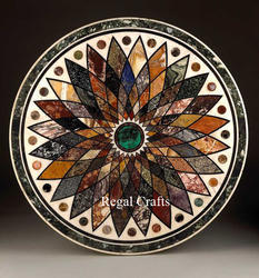Marble Floral Inlay Table Top
