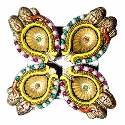 Golden Stone Diya 7092004891305