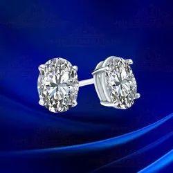 White Real Diamonds 2.02 Carat Lab Grown Diamond Luxurious Stud