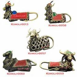 Dhokra - Bell Metal - Religious Colorful Nandi
