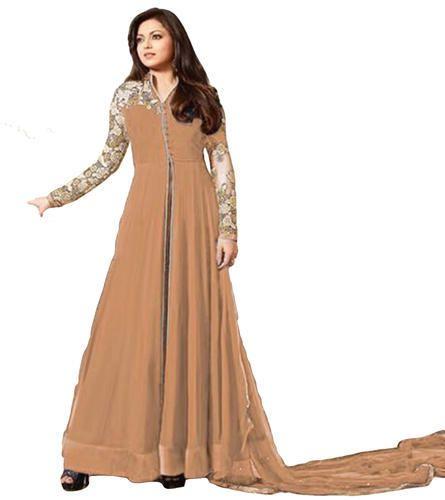 709d4699f9c Georgette Womens Stylish Long Anarkali Salwar Kameez
