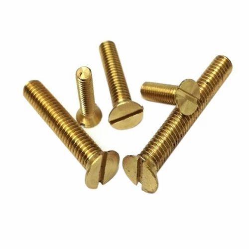 Brass Slotted Flat Head Machine Screws