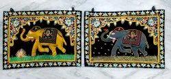 Velvet Embroidery Elephant Hanging