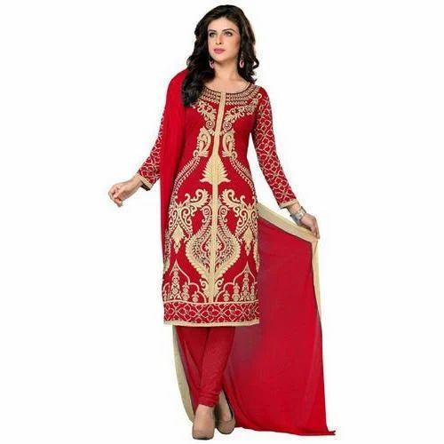 Ladies Red Suit