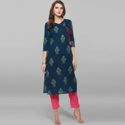 Multicolor Pure Cotton Kurta(JNE2143)
