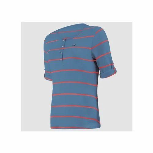 c8f9d32a00402 Wildcraft HypaCool Women's Essential Henley T Shirt - Cobalt Blue at ...