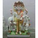 Shiv Sankar Marble Statue