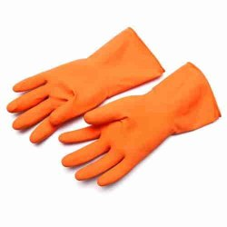 Orange PVC Safety Hand Gloves, 11-15 Inches