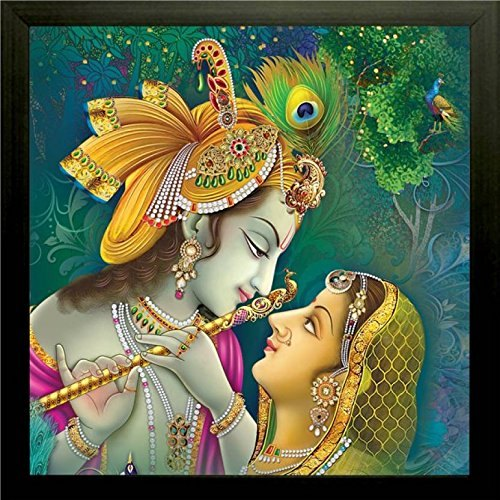 Radha Krishna Canvas Painting Size 48x48 Inch Shape Square Rs 25000 Piece Id 21741704362 Shri krishna ji photos with radha. radha krishna canvas painting