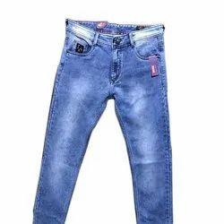 Blue Mens Slim Fit Plain Knitting Jeans, Size: 28-44 Inch