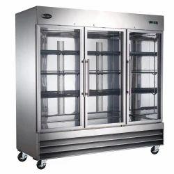 Stainless Steel Rinku Industries Glass Door Refrigerator, Electricity