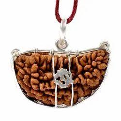 1 Mukhi Rudraksha Silver Pendant