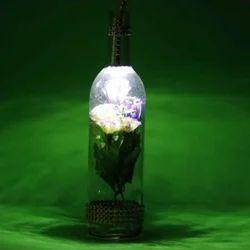 LED Glass Indoor Flower Bottle Decorative Lamp