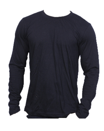 Navy Blue John Carmen Biowashed Premium Cotton Full Sleeve T-Shirts For Men