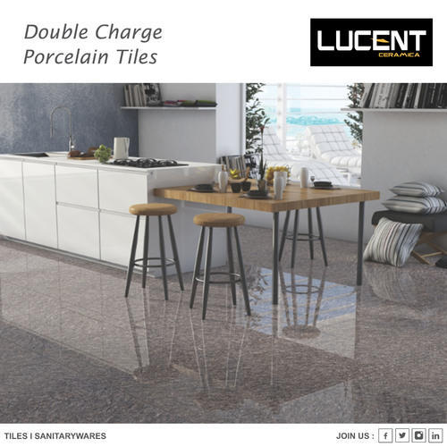Vitrified Lucent Double Charge Polished Tiles, Size: 60x60 cm