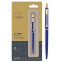 Parker Classic Matte Navy Blue Refillable Ball Pen With Gold Trim