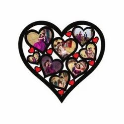 U116 Heart Sublimation Wooden Wall Frame
