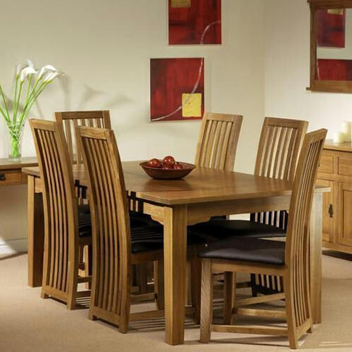 Wooden Dining Table Set: Brown Wooden Dining Table Set, Rs 38000 /set, Right 99