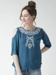 Rayon Ladies Embroidered Top