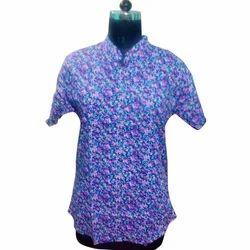 Ladies Blue Printed Top