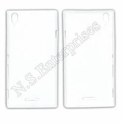 White Plastic 3D Sony T3 Ultra Mobile Cover