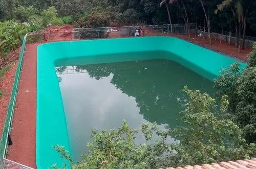 Large Artificial Water Preserve Pond