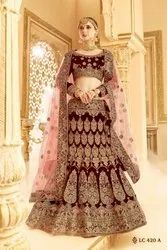 MAROON Colour In Silk Stylish Lehenga
