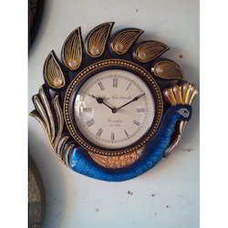 Peacock Shape Clock Wooden Clock