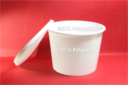 1200 ml Milky White Food Packaging Container