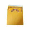 Yellow Single Fold Insert Wedding Card