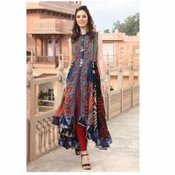 Regular Cotton/Linen Designer Kurtis
