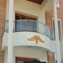 Bar Designer Stainless Steel Glass Balcony Railing