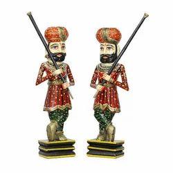 Wooden Chowkidar Set